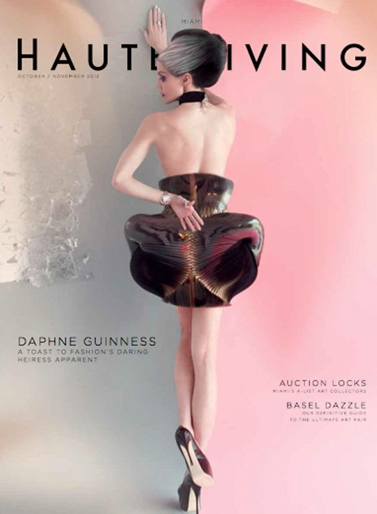 THE VISIBLE WOMAN - as ever the most stylish ms. Daphne Guinness by Nick Knight For Haute Living Cover
