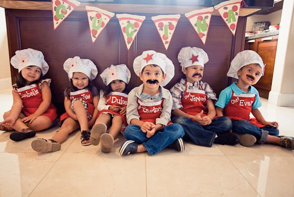 cute dressups for a pizza food party