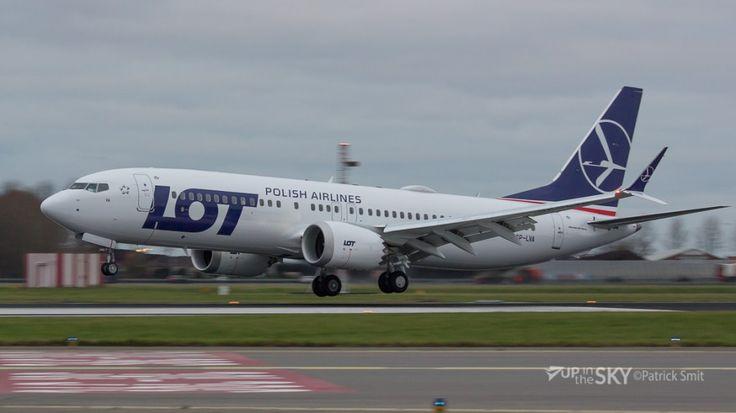 Boeing 737 MAX 8 LOT a ajuns la Amsterdam