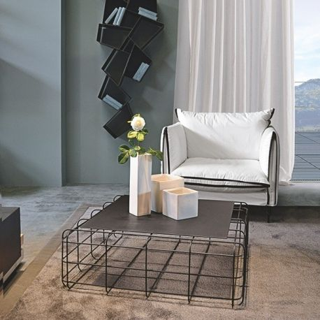 #Wire #coffeetable by Ronda Design. Wire is a light yet solid #metal framed table available in three finishes, #white or #traffic #grey painted and #chromed.