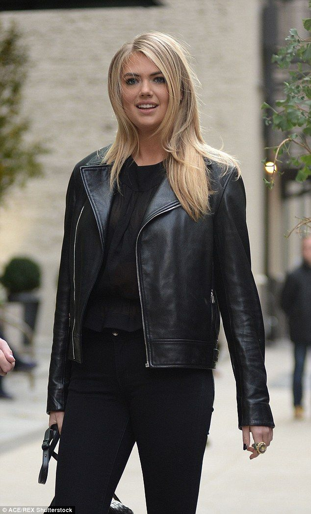 Perfectly polished:Kate also looked like she may have just enjoyed some pampering with her blonde locks looking like she had just had a professional blow dry