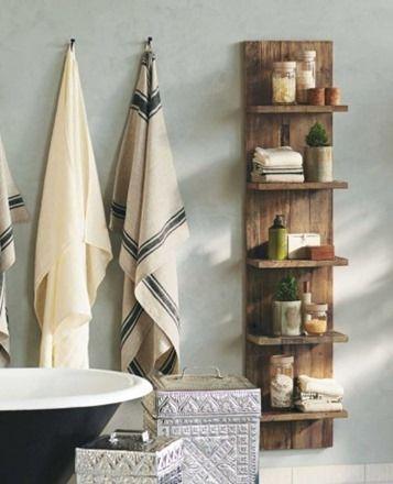 Bathroom Storage Solutions - DIY Door Shelf - Finding Home: