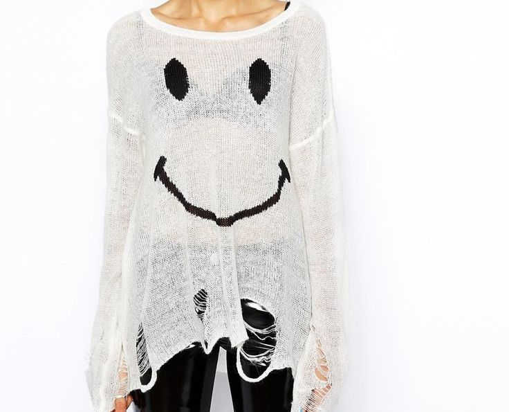 Smiley Face Knit Sweater, Chunky Knitted, Destroyed Knitted, Soft Knitwear, Women Knitwear,Smiley Face Knit, Jumper,Knit Top,Smiley Top by Chedeliko on Etsy