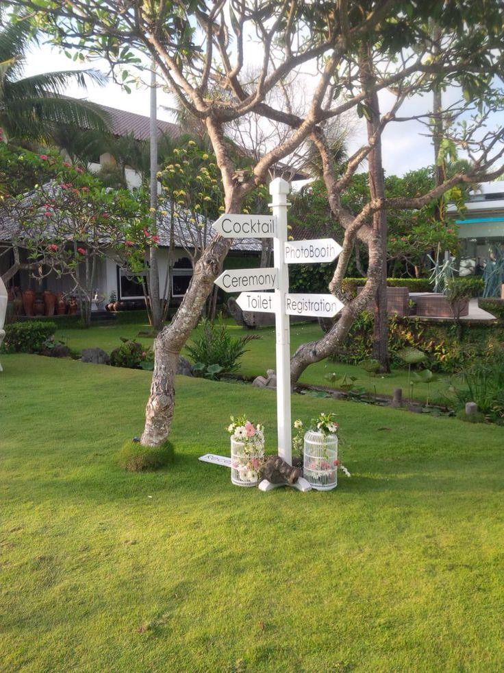 Signboard for outdoor wedding