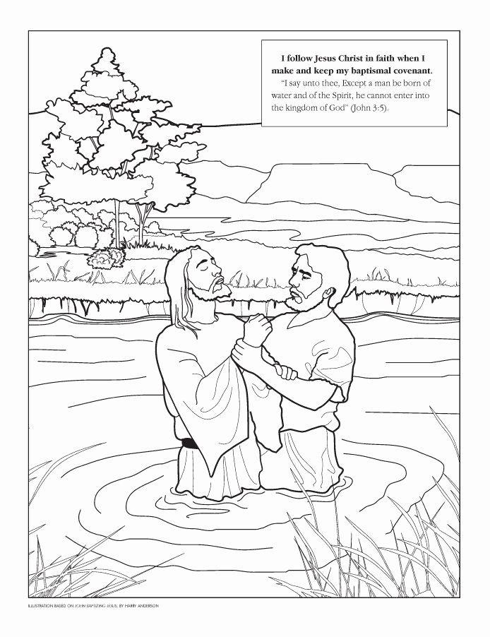 Lds Baptism Coloring Page Elegant 296 Best Images About Baptism Of Jesus On Pinterest In 2020 Lds Coloring Pages Jesus Coloring Pages Bible Coloring Pages