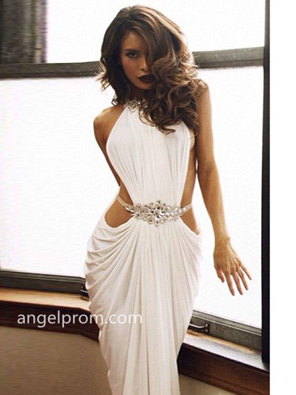 Trumpet/Mermaid High Neck Rhinestone Prom Dresses/Evening Dresses