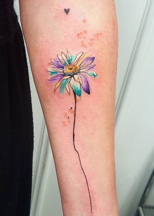 simona blanar watercolor flower tattoo eastern europe wow pinterest watercolor flower. Black Bedroom Furniture Sets. Home Design Ideas