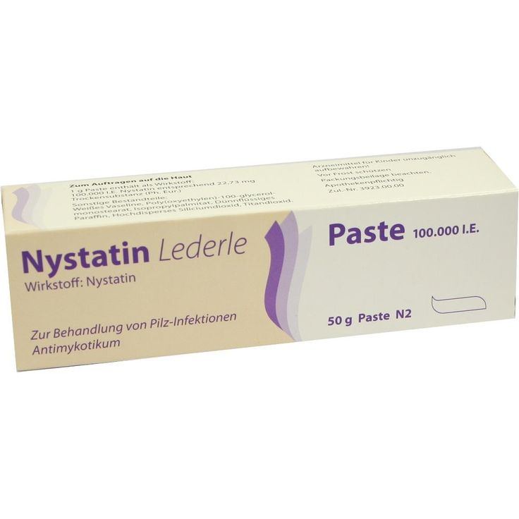 Popular NYSTATIN LEDERLE Paste Packungsinhalt g Paste PZN Hersteller MEDA Pharma