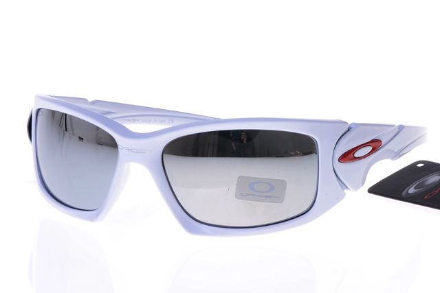 Oakley Active Sunglasses White Frame Silver Lens 0020