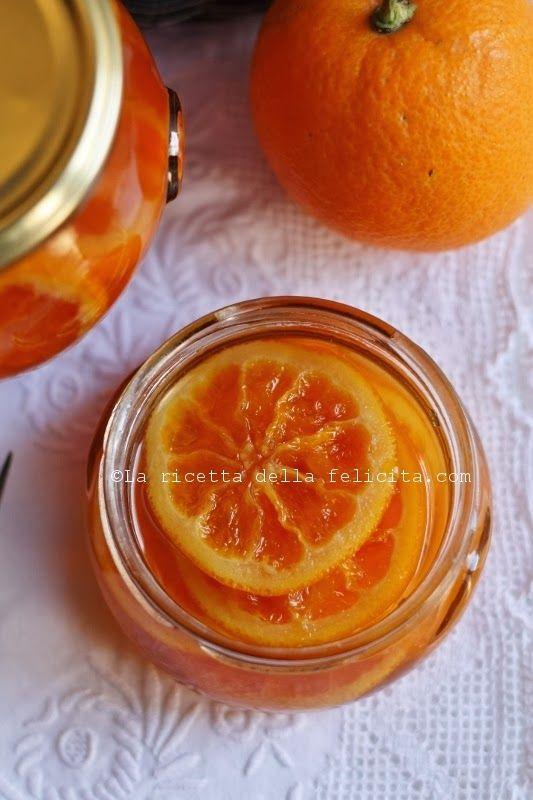 arance caramellate a fette