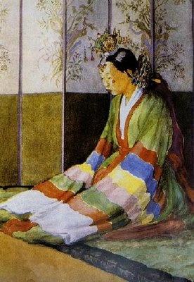 Keith Bride, Elizabeth Keith A morning Gossip, Hamheung, Korea (1921),
