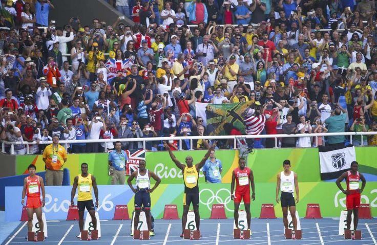 Athletics - Men's 100m - Schon mit seinem 100-m-Vorlauf füllt Usain Bolt das Olympia-Stadion