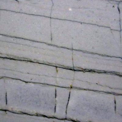 White Macaubus Quartize - White grey background with dramatic grey veining