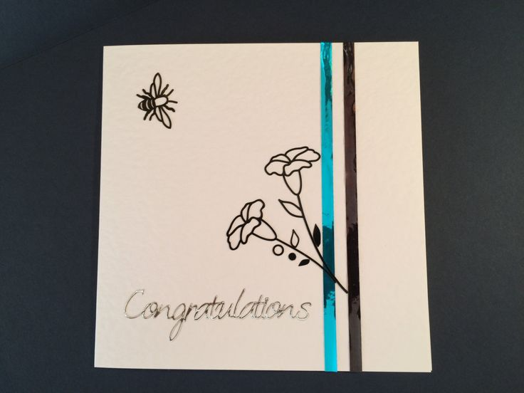 Congratulations Card by CatkinsCrafts on Etsy
