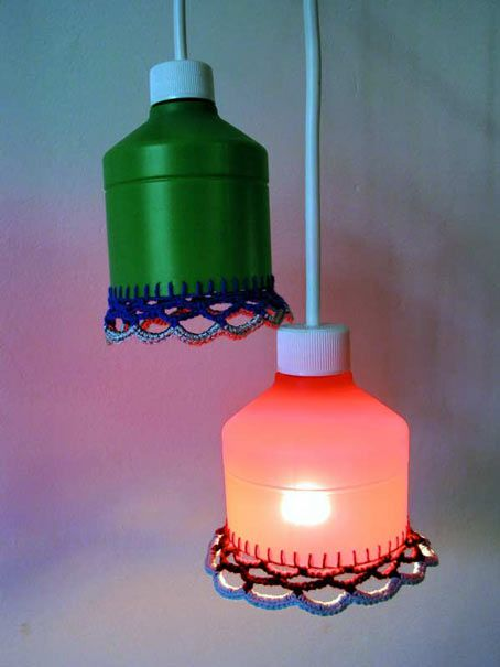 Upcycled Detergent Bottle. Lamps by Conzi #Upcycling