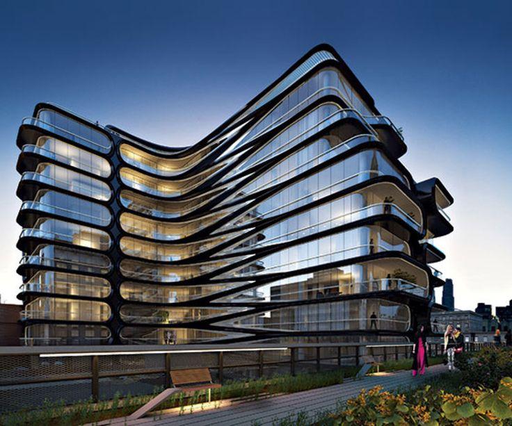 zaha hadid unveils luxury condo along new york's high line