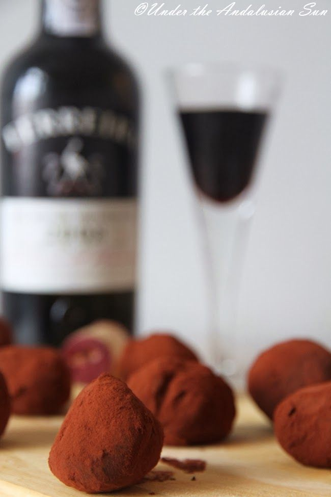 Chocolate and port wine truffles #CookingWithWine #ChocolateComa #WinterWine