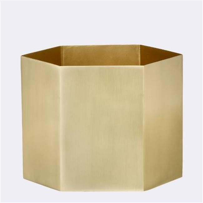 Ferm Living 4147 Hexagon Pot - Extra Large - Brass - 18 x 16 cm. -- Check out this great product.