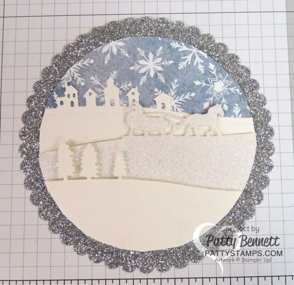 craft ideas with glitter stampin up sleigh ride thinlint die ornament 3976