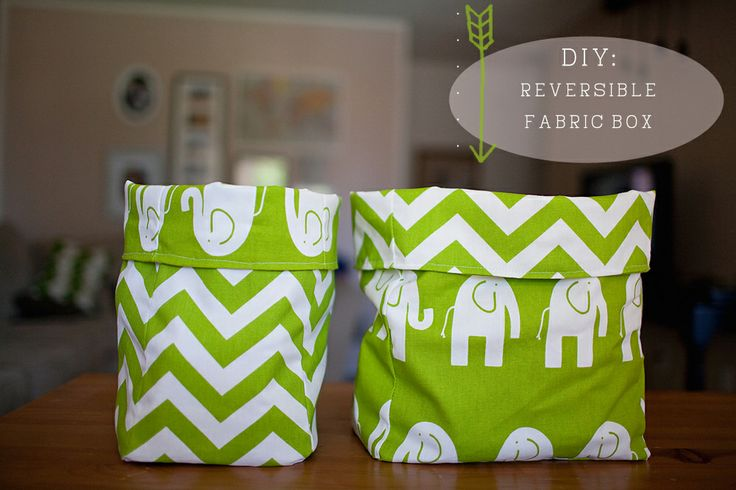 Reversible fabric bag.  I am so on this!