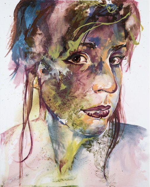 'Self-Portrait II' by Johanna Wilbraham. Oil on canvas, 120 x 150 cm