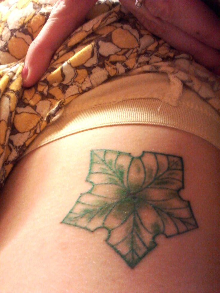 my first tattoo a selfdesigned treestar by nora your