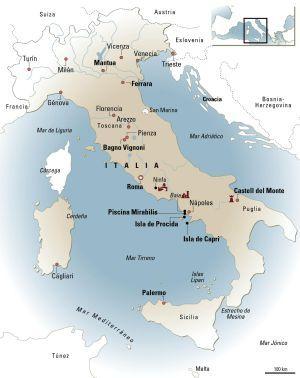 Mapa de Italia.