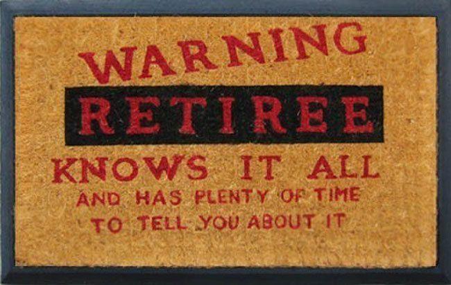 Retiree Door Mat - retirement gifts, gifts for men, birthday presents, Christmas