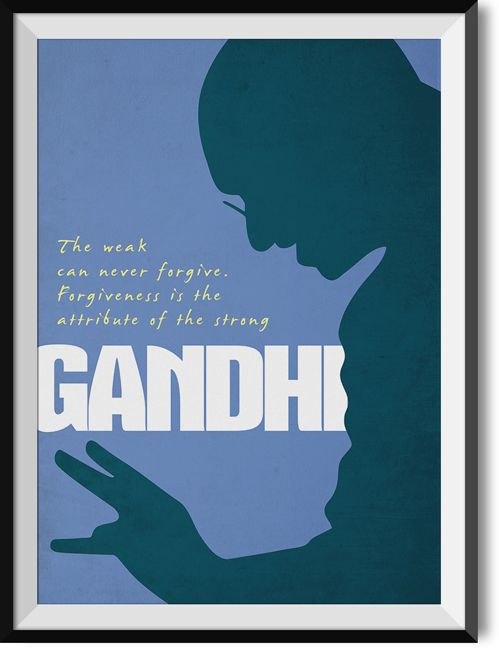 """Gandhi """"Forgiveness"""" quote poster"""