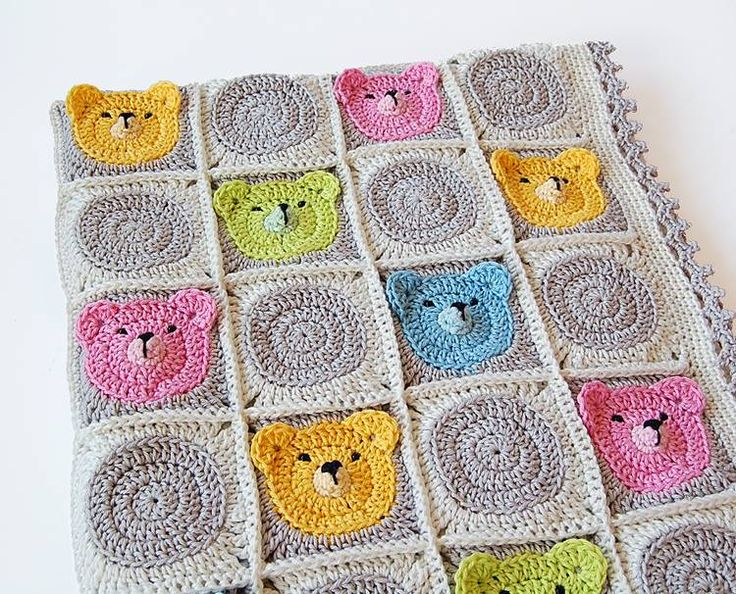 Colcha con ositos para bebe | Crochet | Pinterest