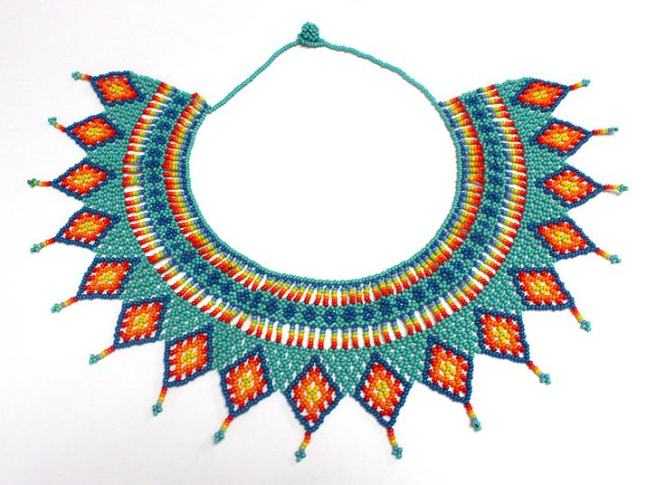 Mint Traditional Embera Necklace