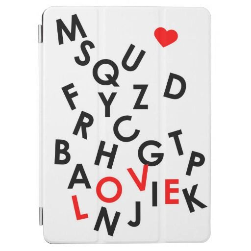 alphabet with word: love