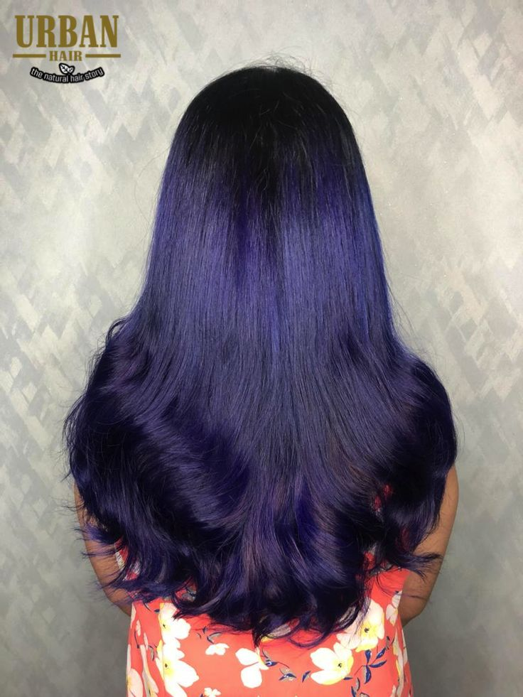 ombre ultra blue violet color