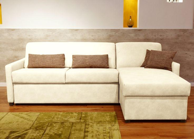 Bettsofa Nalani mit Longchair Komfort Schlafsofa Weiß 21409. Buy now at https://www.moebel-wohnbar.de/bettsofa-nalani-mit-longchair-komfort-schlafsofa-weiss-21409