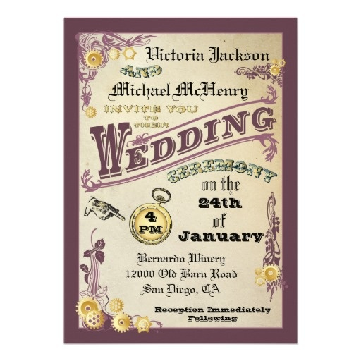 69 best wedding invitation ideas images on pinterest invitations victorian steampunk wedding invitations fandeluxe Images