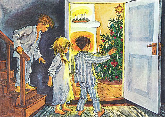 "Looks cozy to me! (""Christmas in Bullerbyn"" by Astrid Lindgren)"
