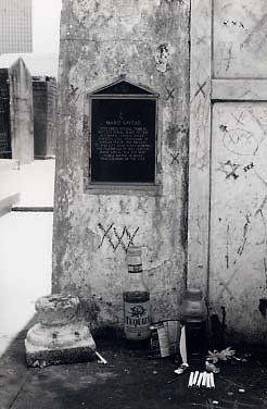 Marie Laveau's gravesite - New Orleans cemetery, via Flickr.