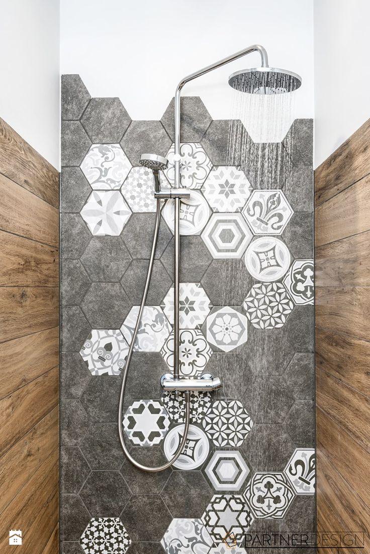 MIESZKANIE SKANDYNAWSKIE POD KLUCZ - Średnia łazienka - zdjęcie od Partner Design - homebook