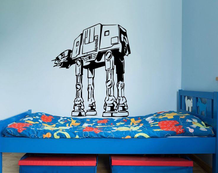 Star Wars Wall Decals AT-AT Walker Vinyl Sticker Decal Fighter Wall Decal Children Kids Nursery Bedroom Decor Art Mural M-181