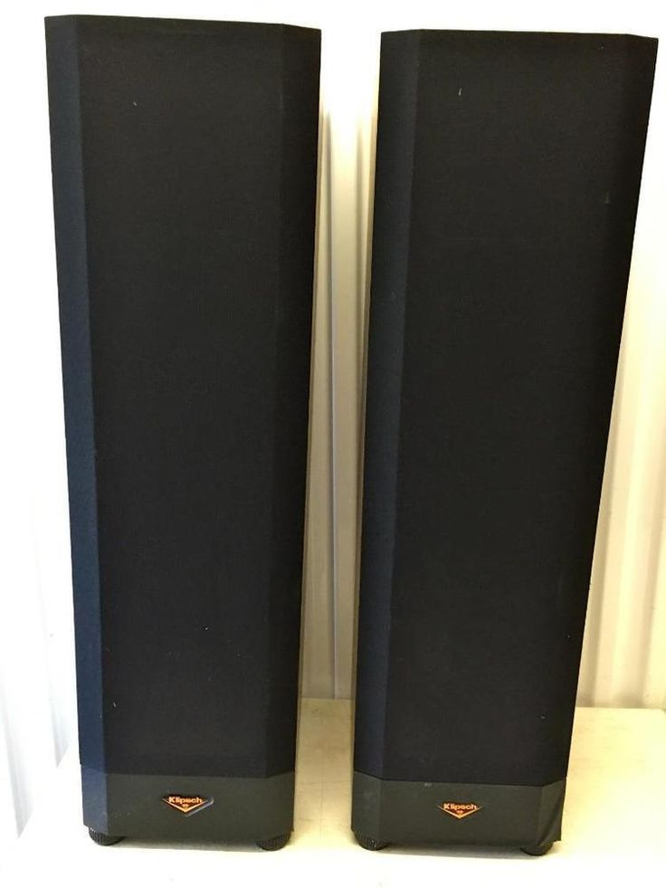 "KLIPSCH 2 FLOOR SPEAKERS MODEL KSF 8.5 rosewood~VERY GOOD COND~37"" TALL #Klipsch"