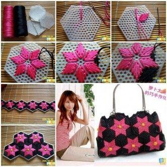 DIY Pretty Handbag from Stitch Plastic Canvas 1