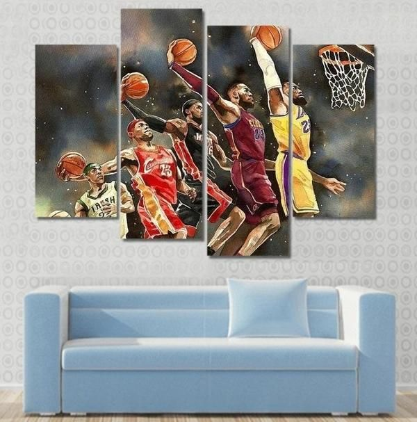 Evolution Of Lebron James Canvas 1 Piece Wall Art Framed Nba Wall Art Wall Art Lebron James Canvas