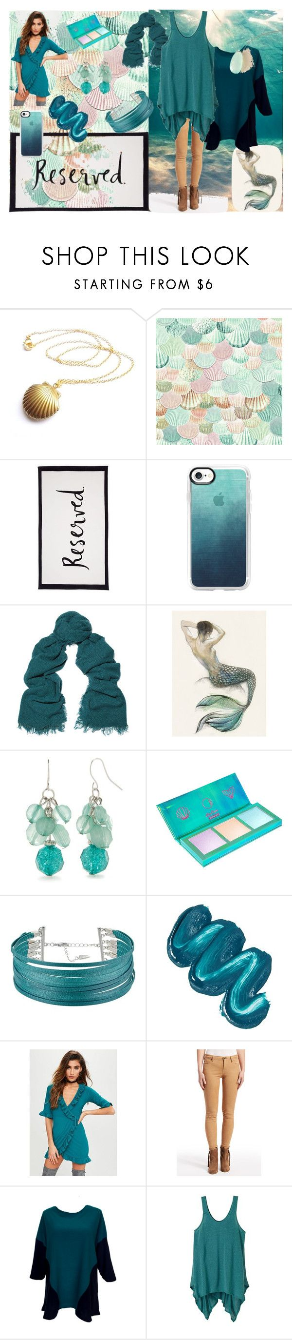 """""""GiGi's Dramatic Color"""" by laura-winters-1 on Polyvore featuring Kate Spade, Casetify, Rick Owens, Kim Rogers, Lime Crime, GUESS, Mermaid Salon, Missguided, AG Adriano Goldschmied and prAna"""