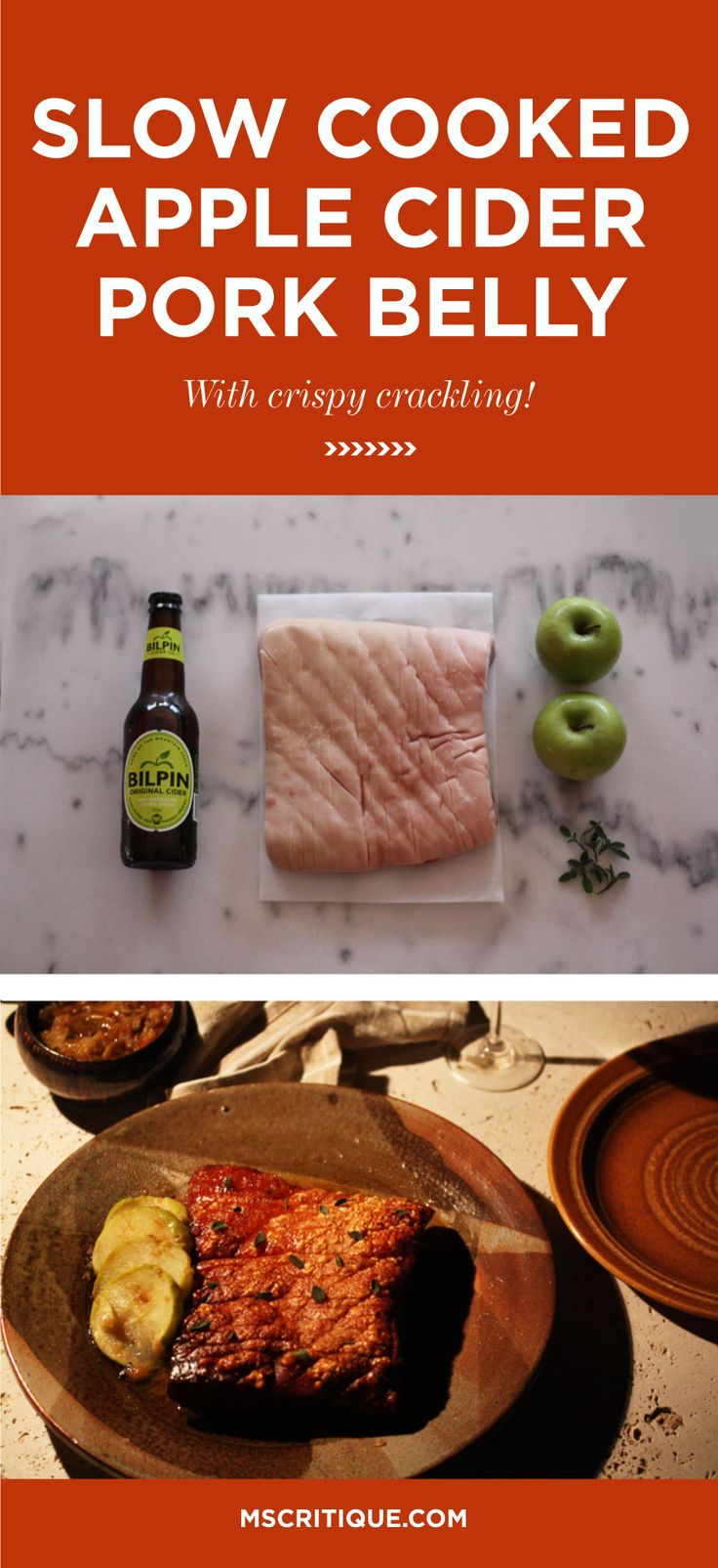 This is the easiest apple cider pork belly recipe ever! Fail proof crispy crackling! *** YUM! ***