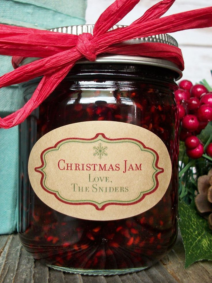 Christmas Jam 2019.Custom Kraft Christmas Oval Canning Labels Christmas