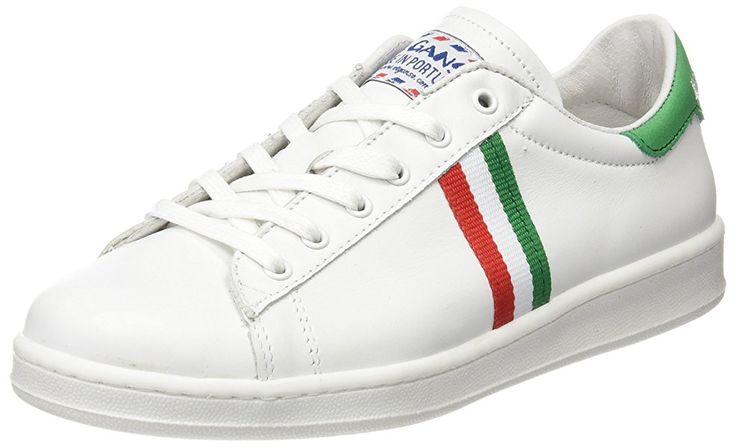 El Ganso Low Top Blanca Bandera Italia - Zapatillas, unisex, color blanco, talla 38