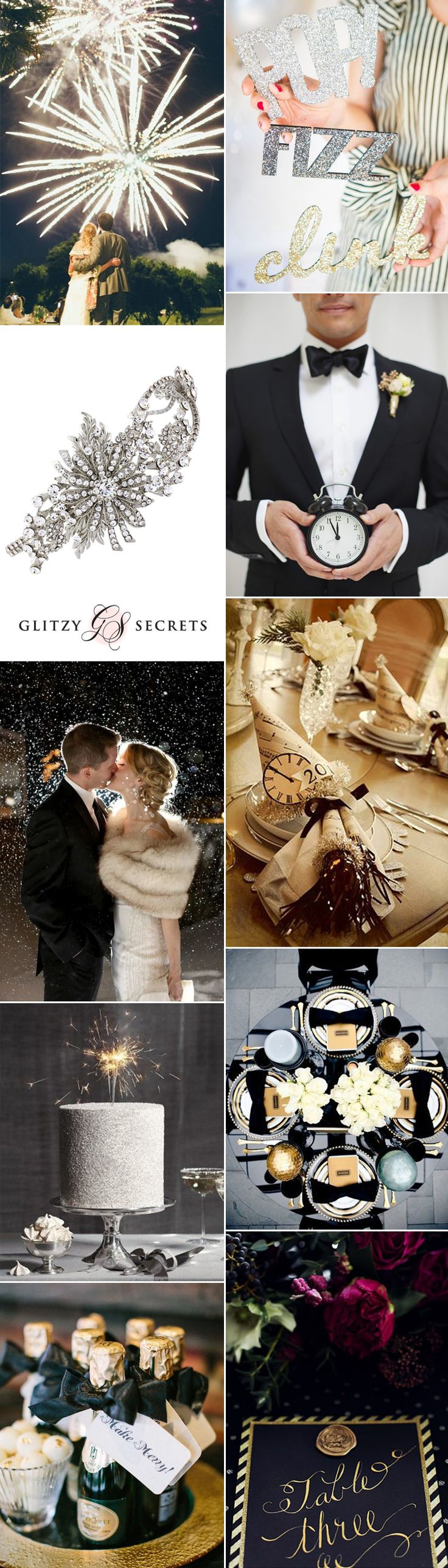 Tthere is something very romantic about a New Year's Eve wedding - take a look on GS Inspiration