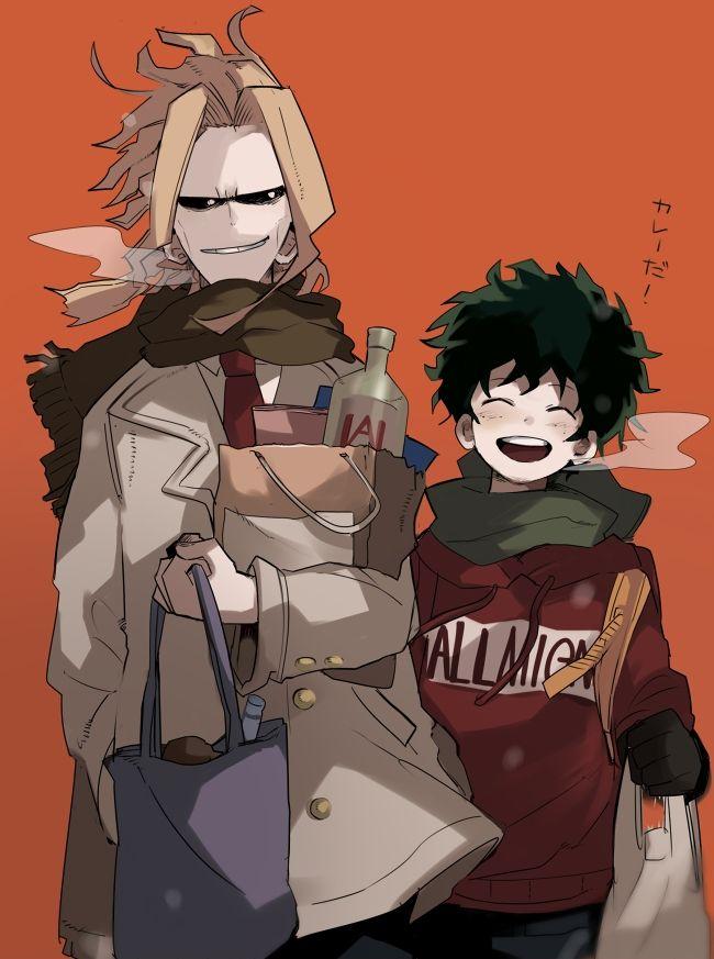 Boku no Hero Academia, All Might and Midoriya