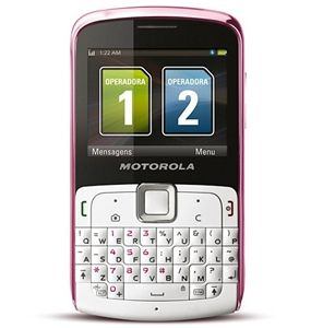 BRAND NEW MOTOROLA EX115 SPECIAL EDITION WHITE / PINK DUAL-SIM QWERTY 3-MEGAPIXEL GSM UNLOCKED WHOLESALE CELL PHONES  (WHOLESALE RESELLERS & DISTRIBUTORS ONLY)