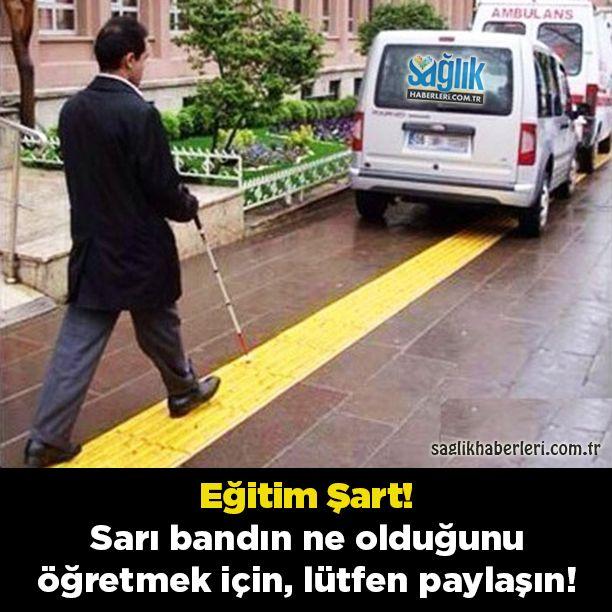 Önemli !  Yollardaki sarı bantlar görme engelli vatandaşlarımızın zorlanmadan yürüyebilmeleri içindir. Lütfen bu yolları kapatacak şekilde araç park etmeyiniz. Bu bantları herhangi bir şekilde işgal edenleri uyarınız..  Toplumsal bilinç oluşması için lütfen paylaşın..! Daha Fazlası İçin Sayfamızı Takip Edin  @saglikhaberleri   Beğen ⤵ Paylaş